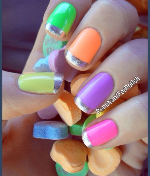 Neon French Tip Nail Designs: Top 25 Ideas About Neon French Manicure On Pinterest