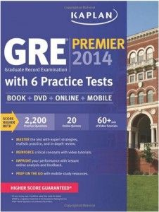 Our new 2014 edition of Kaplan's Premier study book for the GRE is now available. Our bestselling study system for the GRE consists of our study book, which contains tips and study strategies and hundreds of practice questions, 6 full-length practice tests (5 realistic computer-based adaptive tests and 1 in the book), All-new 500 question QuizBank®, for customized quiz creation and review of GRE practice questions, and 1,800+ practice questions with detailed explanations.