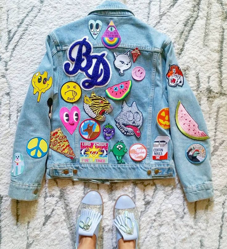 Patch Jacket from @burieddiamond • Instagram