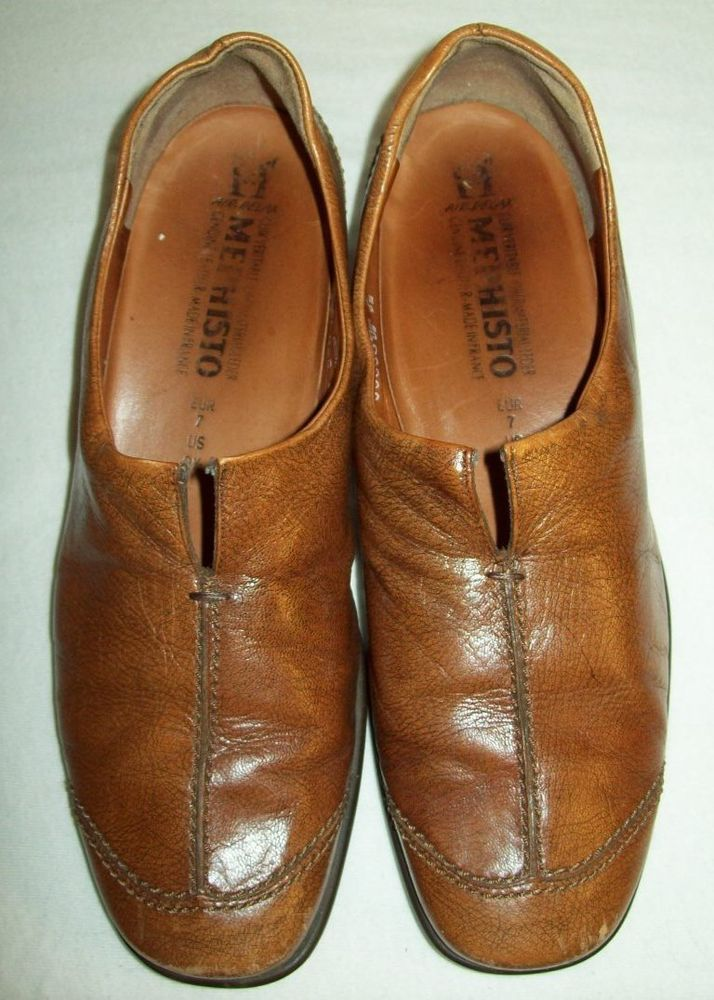 Mephisto Brown Leather Loafers Shoes Women's EUR 7 US 9.5 9 1/2 #Mephisto #Loafers #Casual
