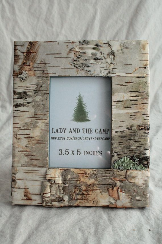 Maine Birch Bark Frame 3.5x5 by LadyandtheCamp on Etsy, $18.00