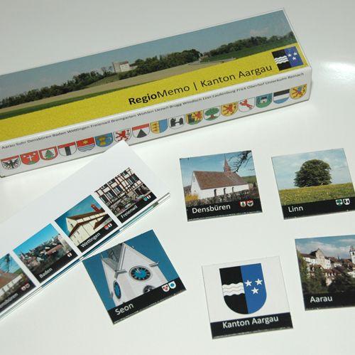 Memory-Spiel vom Kanton Aargau. Jeder Bezirk ist mit 3 Ortschaften vertreten. CHF 27.00