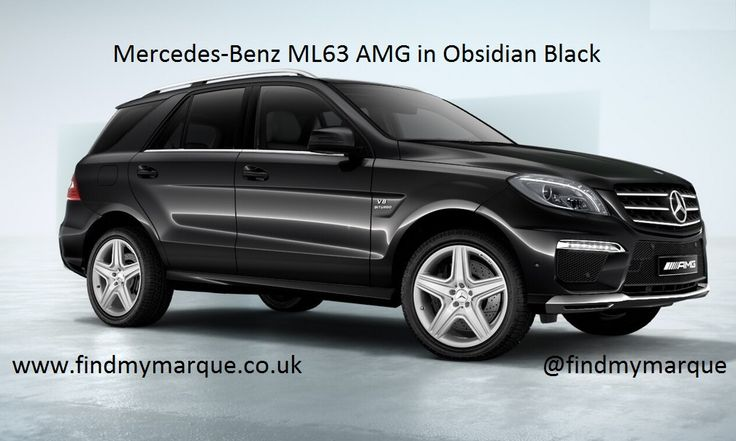 Mercedes ML63 Obsidian Black 20 Inch AMG Alloys