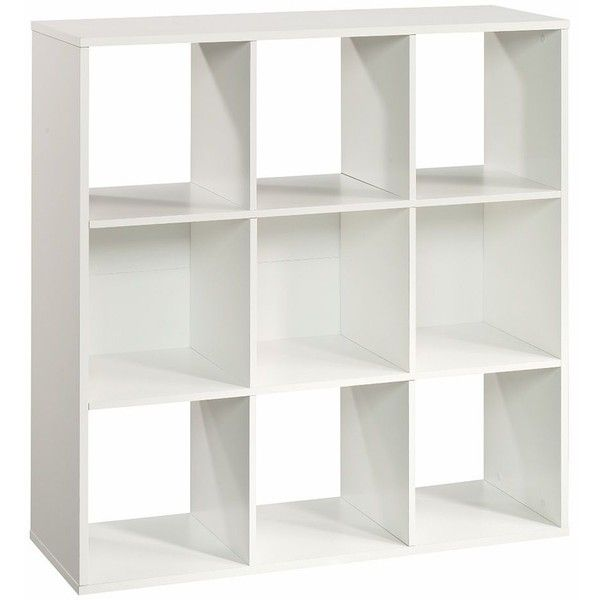 Simple by Design 9-Cube Modular Storage Cubby Bookcase, White ($180) ❤ - Best 25+ White Cube Shelves Ideas On Pinterest Ikea Cube Shelves