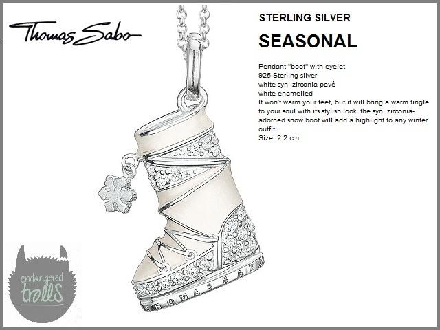 Thomas Sabo - Fall 2012 - Seasonal Collection - Winter Boot Pendant