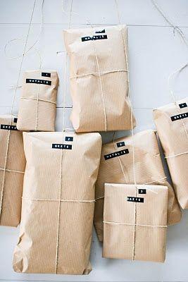 Dymo + Brown Paper Gift Wrap Ideas