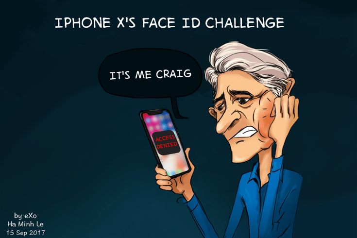 #Cartoon of the Week: iPhone X's Challenge with Facial ID  #iPhone #Mobile #Tech #Technology #apple