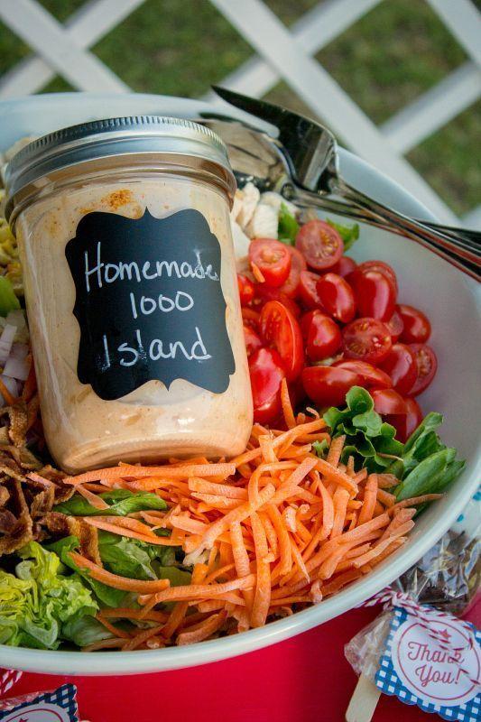 Ich liebe es, meine eigenen Salatsaucen und diese hausgemachten Thousand Island Dressing zu machen …   – Lunch – Soups, Salads, and Sandwiches
