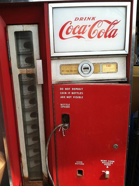 Vintage Coke Ten Cent Vending Machine Coke Pinterest