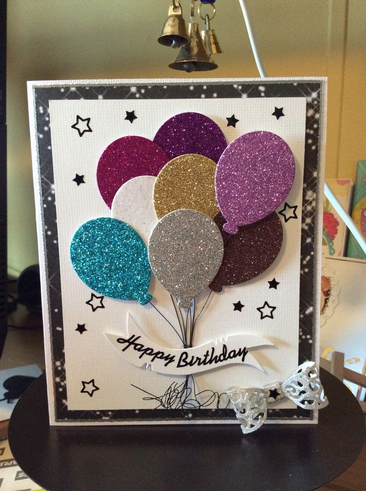 Как разрисовать открытку подруге, днем рождения