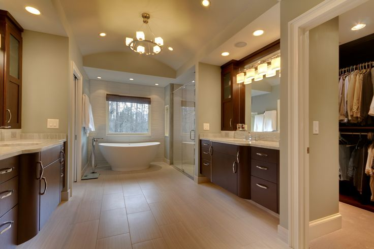 bathroom with rutt cabinets in roswell, ga. design and