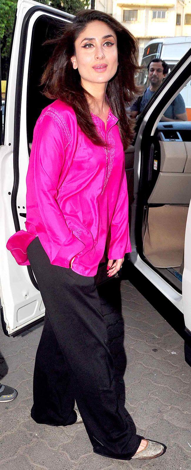 Kareena Kapoor Khan shoots at Mehboob Studio. #Style #Bollywood #Fashion #Beauty