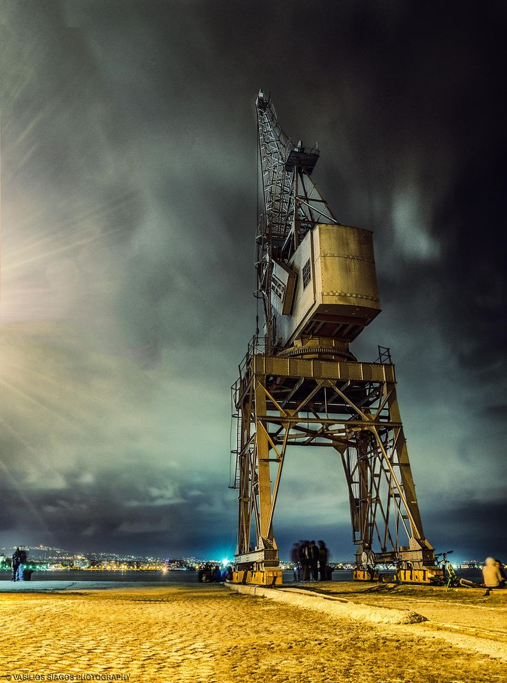 Night shot at Thessaloniki port