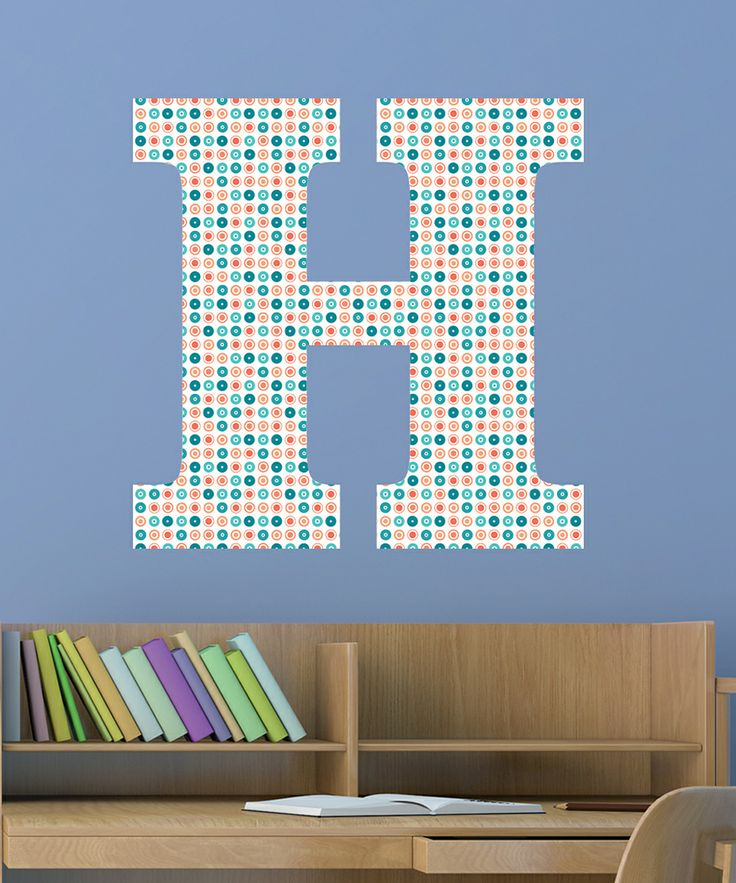 Best Images About Patterns Letter Number Themes On - Coral monogram wall decal