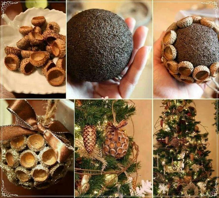 Acorn decoration christmas crafts pinterest for Acorn decoration