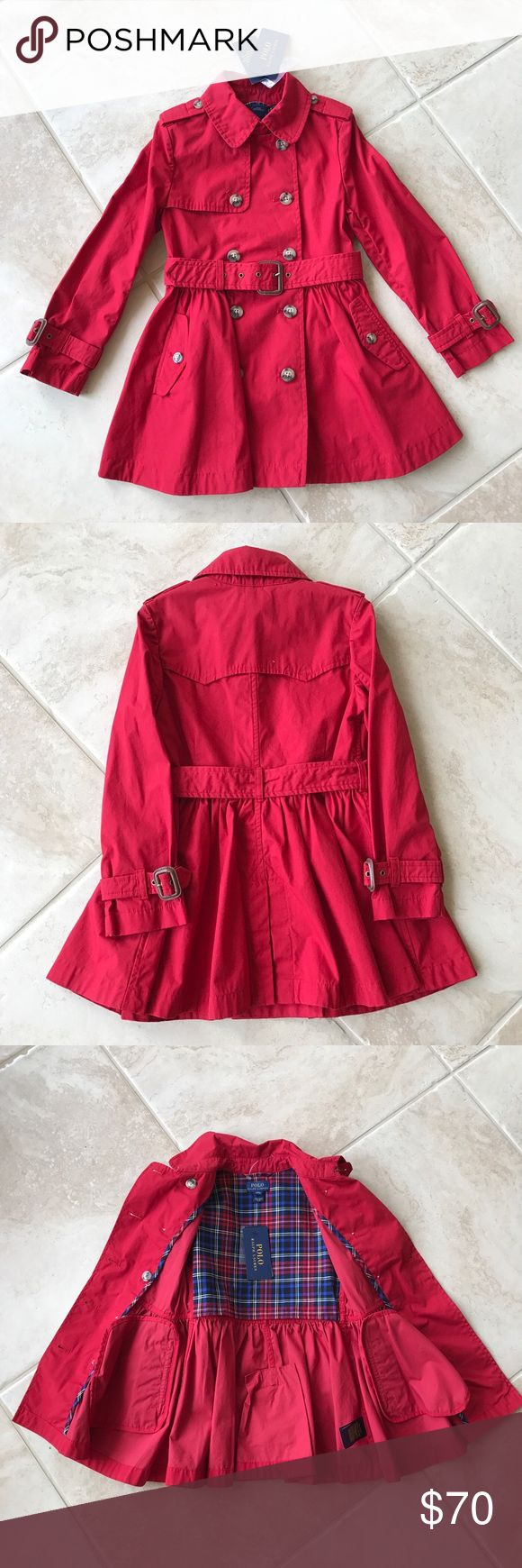 Polo Ralph Lauren girls Trench Coat Ralph Lauren polo Girls lightweight princess trench coat polo ralph lauren Jackets & Coats