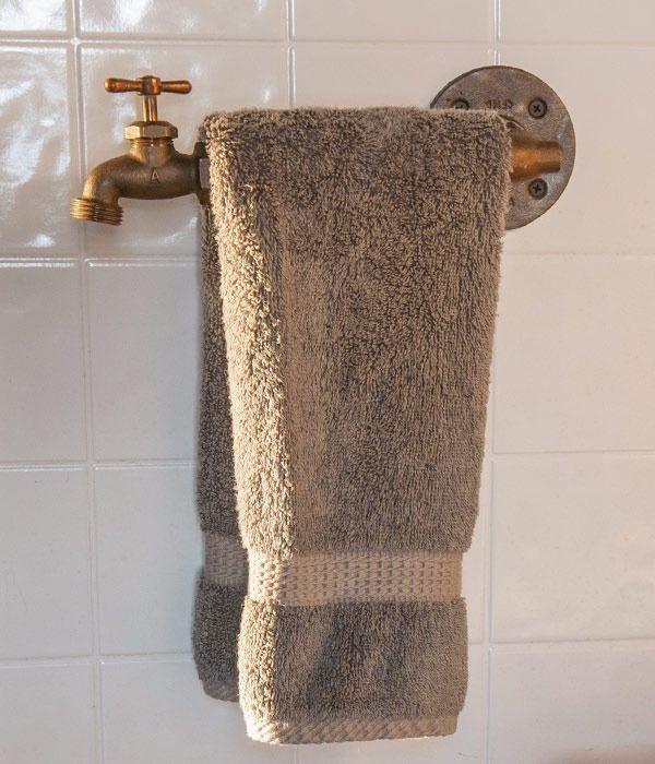Image of Faucet Towel Bar