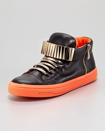 Patric Sneaker, Black Orange ($185) by Jeffrey Campbell at Neiman Marcus. Free shipping call to purchase 3122417096