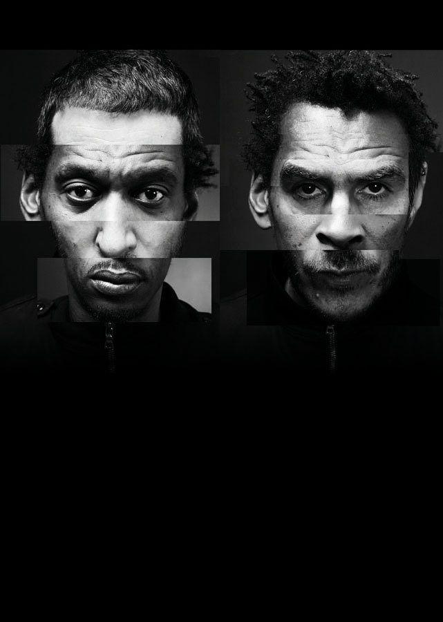 Collage fotografico realizzato per il festival di Meltdown del Southbank Centre. del 2008. Rappresenta la fusione dei volti dei due membri dei Massive Attack