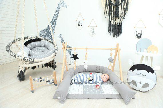 round decorative grey arrows horse pillow handmade baby bed bumper rh pinterest com