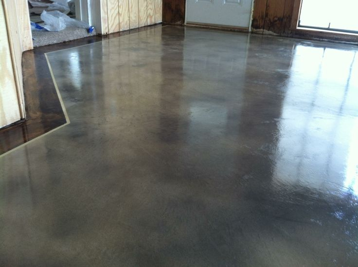 Colored Interior Concrete Floor : Best images about interior concrete staining on
