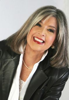 Silver Highlights in Brown Hair | how I want to deal with my grays. I think heavy highlights to silver