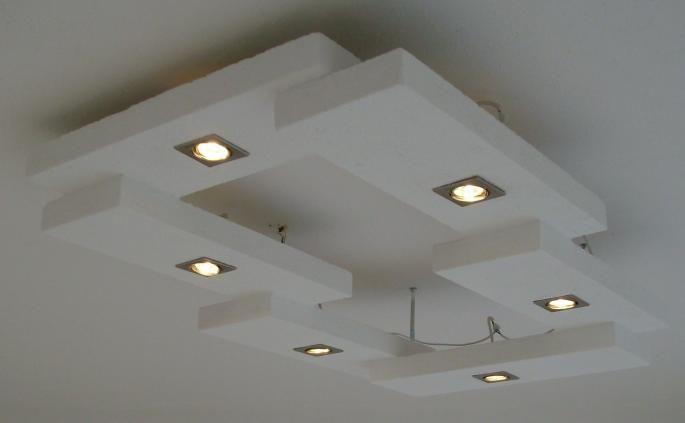 Individuelle Mobel Selber Bauen Abgehangte Decke Design Wohnzimmerlampe Beleuchtung Wohnzimmer Decke