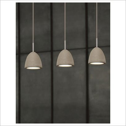 Concrete Pendant with Polished Chrome Ceiling Canopy Viore Design | Wayfair