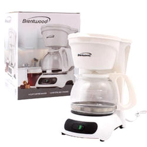 BRENTWOOD 4 CUP COFFEE MAKER WHITE, Case of 6