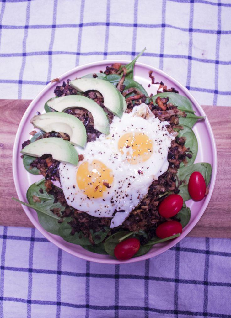 Morgenmadstallerken med Karameliseret hvidkål