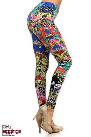 If you love the look of a gorgeous colorful premium fabric print then you will love our Spring Soleil Leggings.  This ornate and dazzling legging will give your legs a premium fashion designer look that is perfect for the Spring and Summer.  These colorful leggings will look just as good on the beach as they will out on the town clubbing at night.  The fabric is a wonderful high quality polyester that wraps yur legs in all day comfort and fashion style.  Are you ready for the Spring and ...