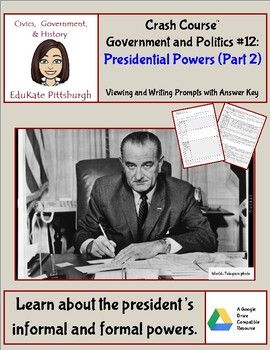 crash course government and politics 12 presidential powers part 2 rh pinterest com