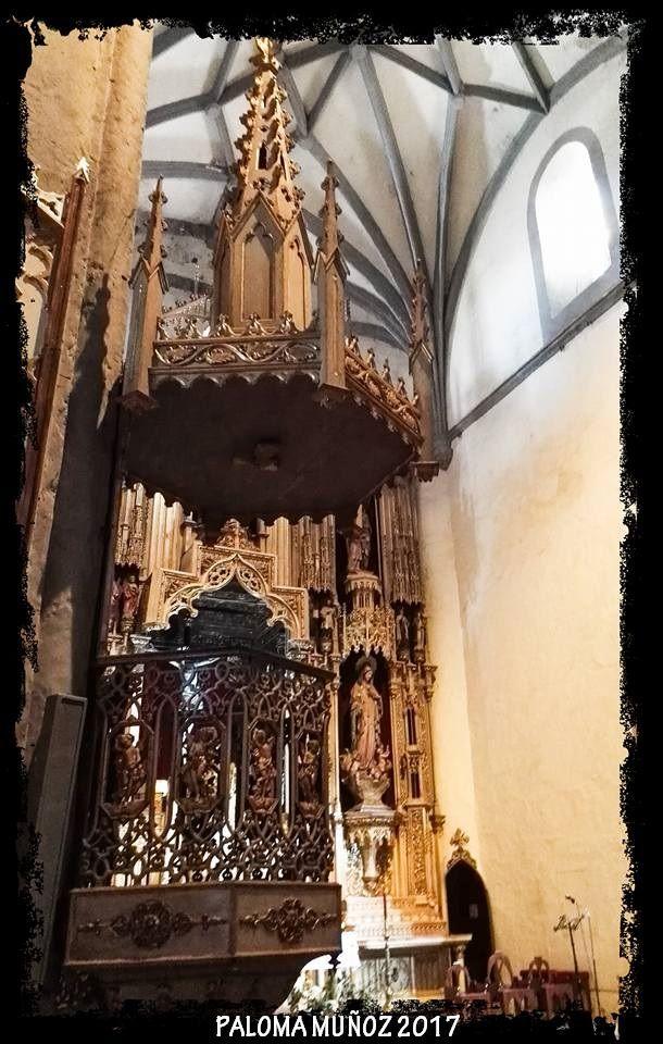 Zafra, iglesia del Rosario o del Cristo del Rosario. púlpito barroco Zafra, church of the Rosary or the Christ of the Rosary. Baroque pulpit