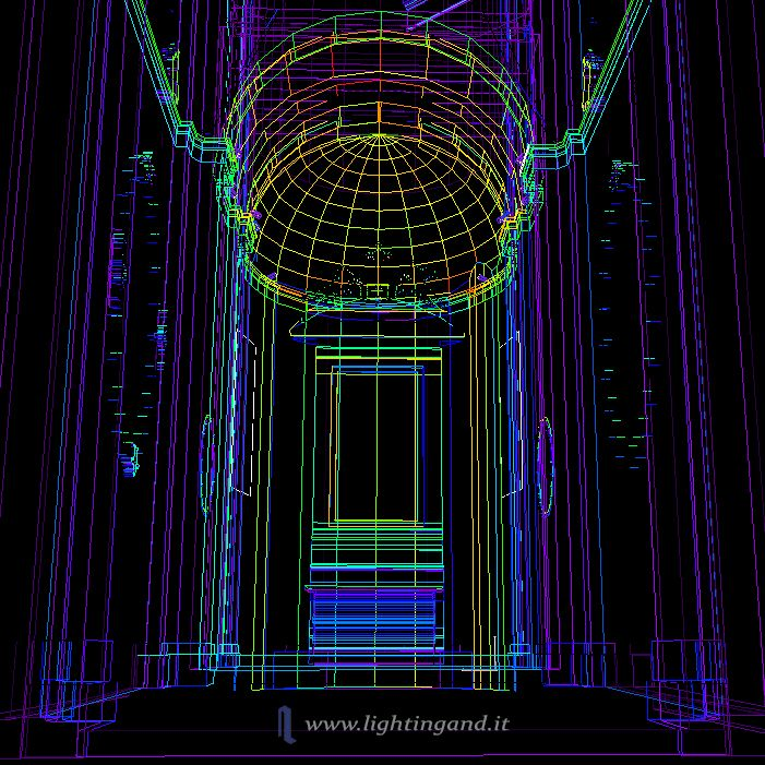 Working on this kind of projects is always really fascinating. #dome #wareframe #falsecolors #3d #project #chapel #cappella #church #chiesa #light # luce #effects #evocative #architectural #vertical #height #monumental #sacredness #sacralità #cupola