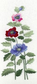 Anemones Embroidery Kit SUR