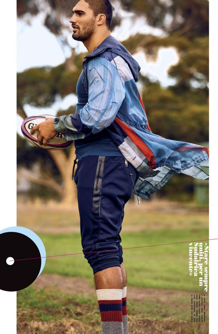 Damian de Allende in Brioni and Tommy Hilfiger for L'Uomo Vogue April 2016 #menswear