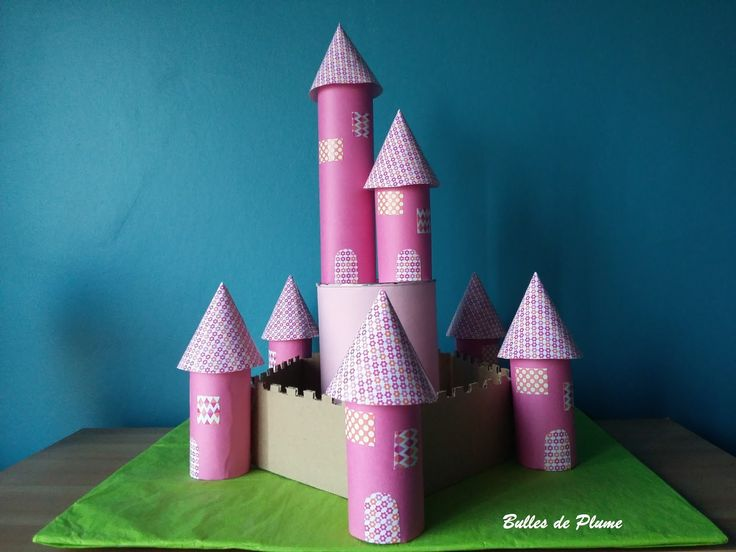 Bulles de Plume: DIY Château de princesse en carton