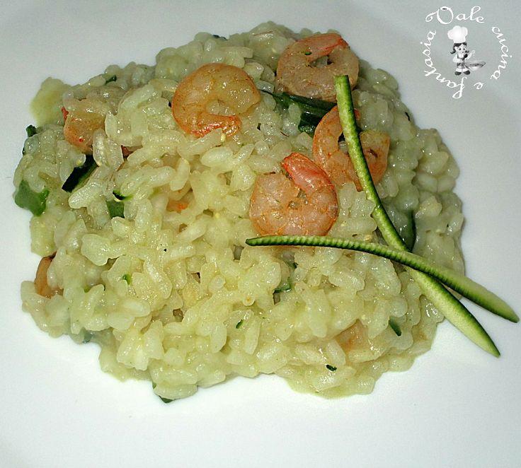 risotto con zucchine e gamberetti Vale cucina e fantasia