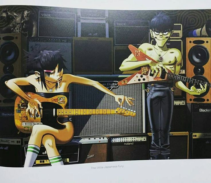 Noodle and Murdoc, Gorillaz by Jamie Hewlett.