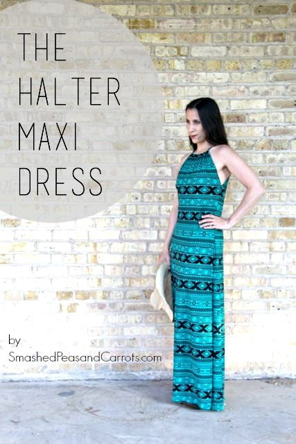 Learn how to make an easy and comfy Women's Halter Maxi Sundress with this easy to follow tutorial.