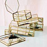 Large Gold & Glass Mirrored Jewellery Box | Oliver Bonas
