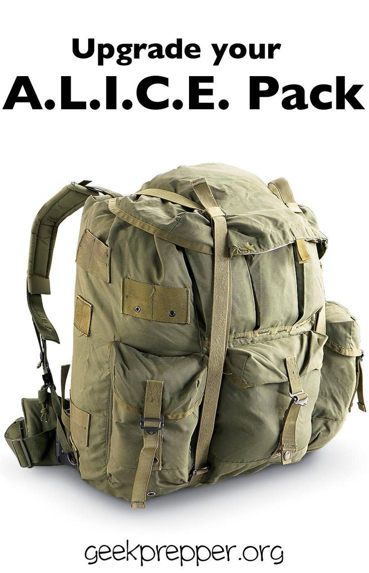 upgrade an alice pack making it a comfortable and time tested proven platform