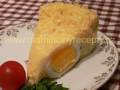 Bramborová kaše zapečená s vejci