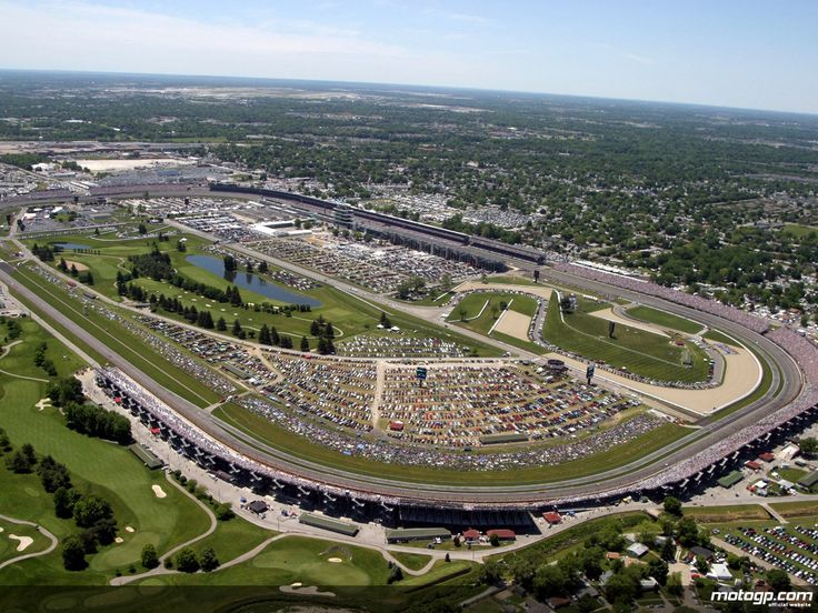 Indianapolis Motor Speedway - A modern infield road course was completed in 2000, incorporating part of the oval, including the mainstretch and the southeast turn, measuring 2.605 miles. In 2008, and again in 2014, the road course layout was modified to accommodate motorcycle racing, as well as to improve competition. Altogether, the current grounds have expanded from an original 320 acres on which the speedway was first built to cover an area of over 559 acres.