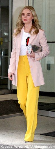 Third time's a charm:Kate Bosworth scored a style win in three ensembles as she promoted ...