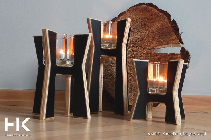 Candlesticks LAMPIO X  is a shot of the original design, which will add to your interior a new character.  The warmth of wood combined with white and black laminate, give them a great style.  Candlesticks are available in three heights and shapes. You can freely compose, although we do not hide that they liked each other's company and so best to blend. #candle #candlestick #decor #homedecor #design #konzept #konzepthome #gift