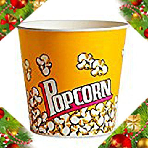 """This great popcorn tub makes you feel like you are at the movie theater! Stackable for easy storage. Dimensions; 8"""" top diameter x 7.75"""" tall. Reusable! Hand washing recommended; 100% BPA-Free  - http://kitchen-dining.bestselleroutlet.net/product-review-for-adorox-plastic-movie-theater-style-popcorn-tubs-bowls-set-yellow-3-tubs/"""