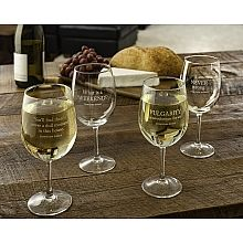 Fans around the world have fallen in love with the quick wit and pithy quotes of Lady Violet, Dowager Countess of Grantham. Sip your favorite wine with these Downton Abbey wine glasses featuring four witty quotes from Violet--a must have for any Downton Abbey fan.