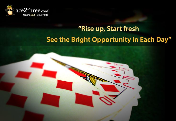 Good Morning ! Play Rummy Online Happy ‪#‎Playing‬ »» www.ace2three.com