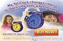 Toddler Sleep Issues? My Tot Clock is the first all-in-one Toddler Sleep Clock, Analog Alarm Clock, Nightlight, Timeout Timer, and Toddler A...